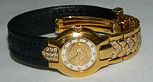 Gianni Versace 750 Gold Wrist Watch with Diamonds