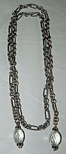 David Yurman, Sterling and Black Diamond Necklace