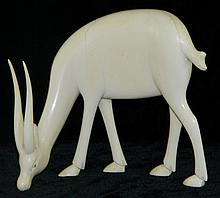 Ivory Figurine of Gazelle