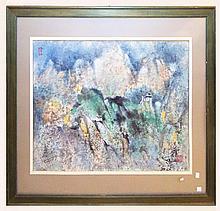 Oriental Landscape Watercolor