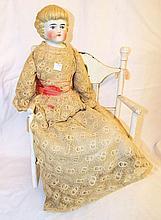 Blond China Head Doll