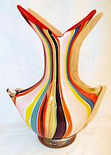 Multicolor Art Glass Vase