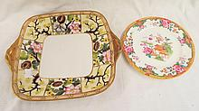 Hand Painted Japan Plate & Royal Doulton Plate