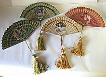 4 Porcelain Gone With The Wind Collector's Fans