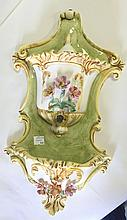Hand Painted Porcelain Wall Pocket