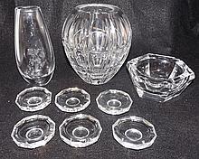 Grouping of Glassware incl. Val St. Lambert, 9 pcs