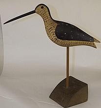 Hand Carved and Painted Folk Art Bird