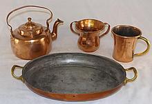4 Piece Copper Set