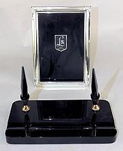 Shaffers Desk Set & Lunt Sterling Picture Frame