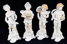 Set of 4 Vista Alegre Portugal Figurines