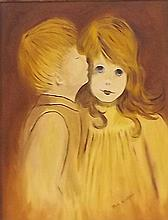 Ricky Woolfson Oil on Board of Children