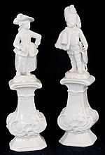 Pair of White Porcelain Figurines
