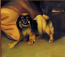 Artist Signed Oil on Canvas of Dog