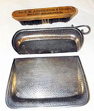 Dowd Rodgers Silver Plate Crumb Trays & Brush