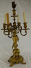 Bronze Five Light Candle Holder/Lamp