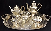 Sanborns Mexican Sterling Tea Set