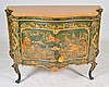 French Marble Top Paint Decorated Cabinet