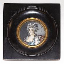 Hand Painted Miniature Portrait of Lady
