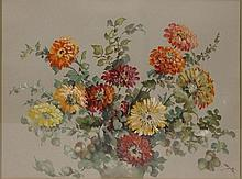 Effie Smith Water Color Still Life of Flowers