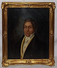 Oil on Board Portrait of Man in Gilt Frame