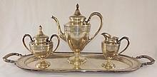 International Sterling 4 Pc Tea Set