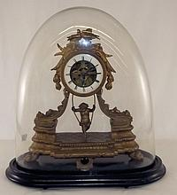 Figural Clock with Boy on Swing