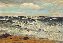 P. v. Kalckreuth Oil on Canvas Ocean Scene