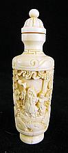Oriental Ivory Carved Snuff Bottle