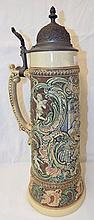 Germany Stein With Pewter Lid