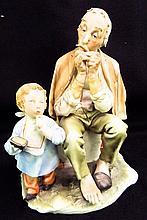 Capodimonte W. Caprelli Italy Figural Grouping