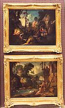 Pr. of Oil On Board Paintings In Gilt Frame