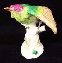 Porcelaine De Paris Hand Painted Bird