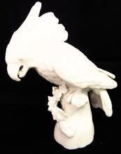 White Porcelain Parrot Figurine