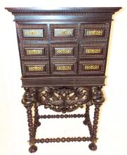 19th Century Portugese Rosewood Contador