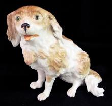 Hand Painted Porcelain Bolognese Dog Figurine