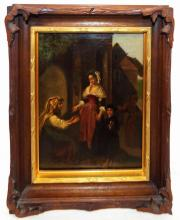 19th Century Italian School Oil On Canvas