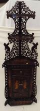 19th Century Folk Art Warrior Scene Corner Cabinet