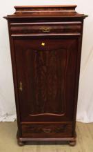 19th Century Mahogany Linen Cabinet