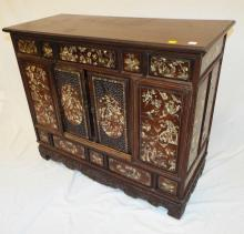 Exquisite Mother Of Pearl Inlaid Chest