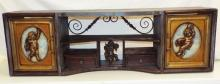 Hand Carved Decorated Hanging Shelf