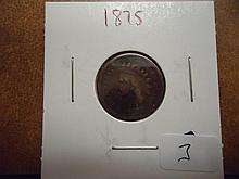 1875 INDIAN HEAD CENT SEMI KEY