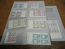 10 VINTAGE UNUSED USPS PLATE BLOCKS 6-4 CENTS &