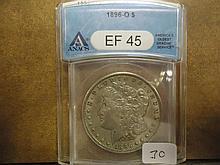 1896-O MORGAN SILVER DOLLAR ANACS (EXTRA FINE 45)
