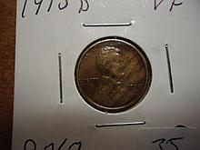 1915-D LINCOLN CENT (VERY FINE)