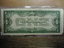1928-B $1 SILVER CERTIFICATE FUNNY BACK
