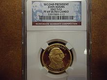 2007-S ADAMS PRESIDENTIAL DOLLAR NGC PF69 ULTRA