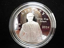2004-P EDISON PROOF SILVER DOLLAR