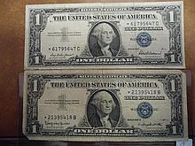 1957 & 1957-B $1 SILVER CERTIFICATES STAR NOTES