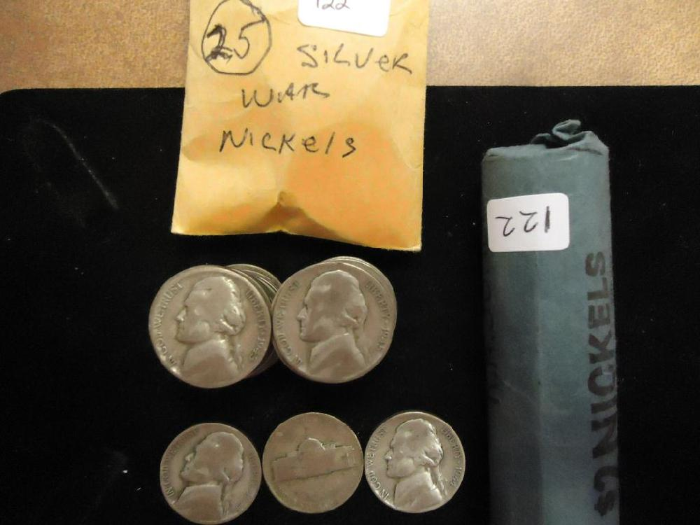 65 ASSORTED 35% SILVER JEFFERSON WAR NICKELS
