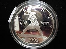 1992-S OLYMPIC PROOF SILVER DOLLAR
